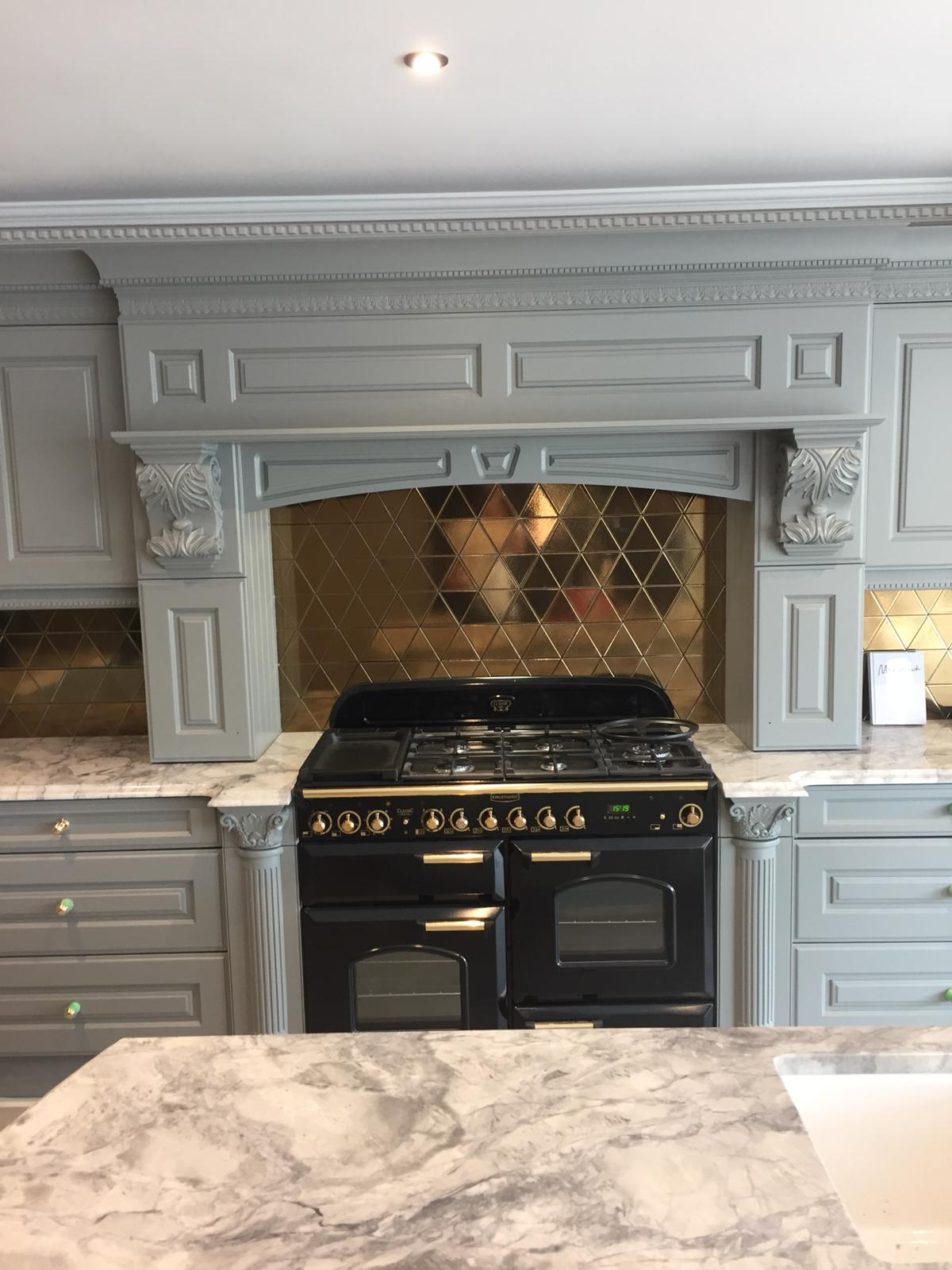 Hand painted bespoke kitchen in Belsize Park 7
